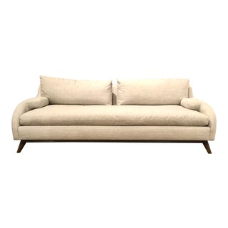 Drexel Heritage Mid-Century Modern Inspired Dove Gray Sofa For Sale