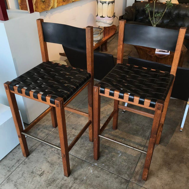 Glenn of California Barstools - a Pair For Sale In Los Angeles - Image 6 of 10