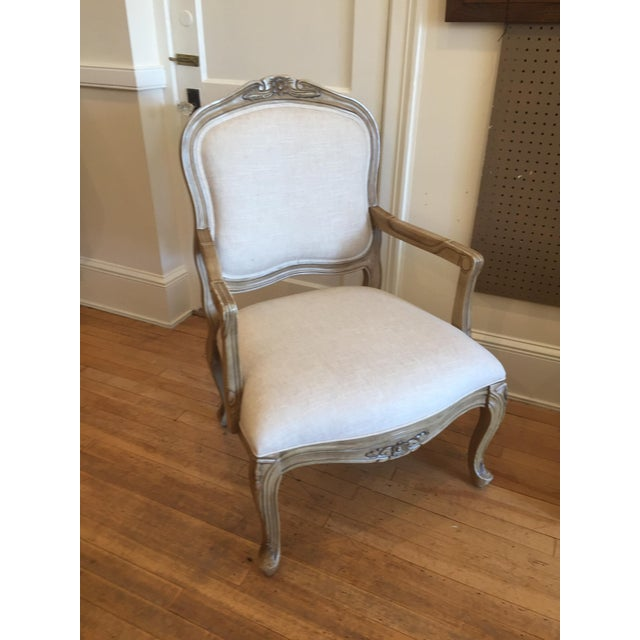 Reupholstered French Style Accent Chair - Image 2 of 5
