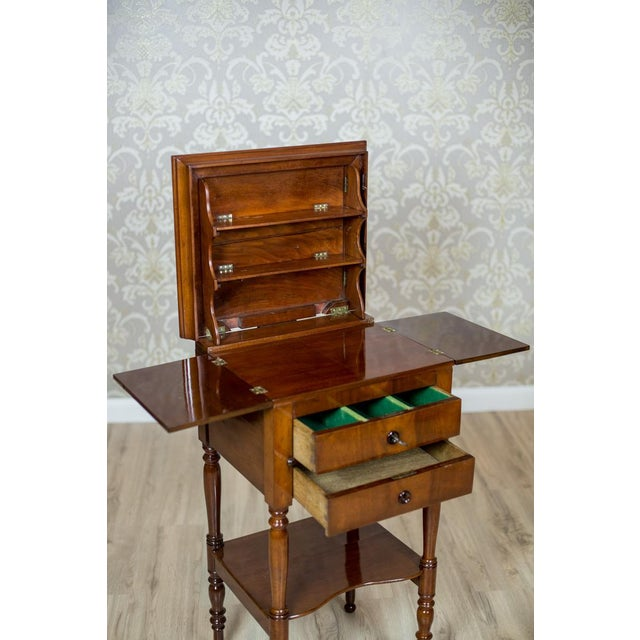 Dresser/Desk/Dressing Table Veneered with Mahogany, circa 1860 For Sale - Image 9 of 13