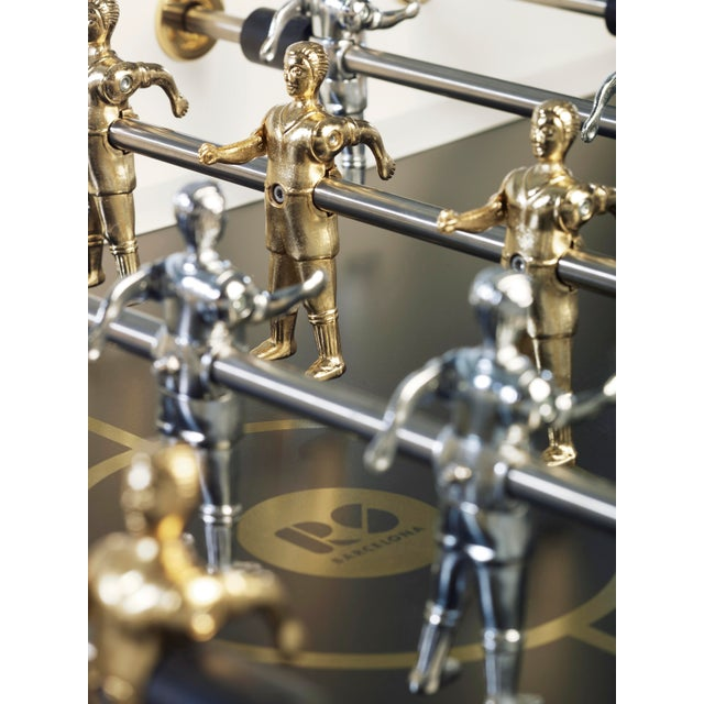 RS Barcelona Gold Foosball Table, White For Sale - Image 4 of 5