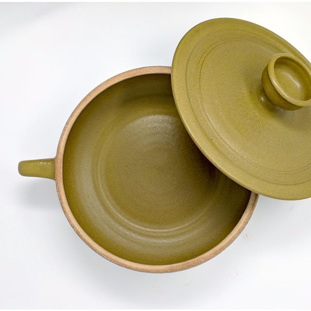 Ceramic 1970s Vintage Wishon-Harrell Pottery Covered Serving Dish For Sale - Image 7 of 10