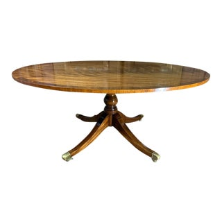 Vintage English Walnut Coffee Table For Sale