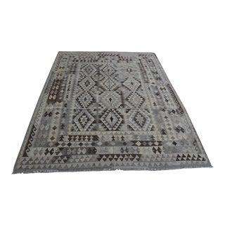 Handwoven Tribal Afghan Kilim Rug For Sale