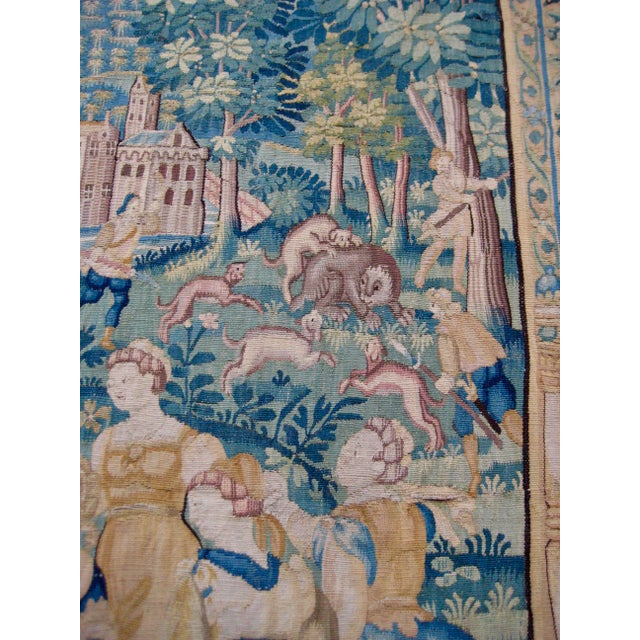 Large 16th Century Flemish Tapestry Wall Hanging For Sale - Image 6 of 13