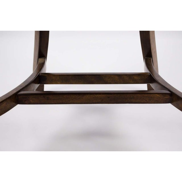 Vintage Mid-Century B. L. Marble Chair Company Walnut Bank of England Style Chair For Sale - Image 10 of 13