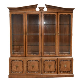 Thomasville Solid Wood Mahogany China Cabinet For Sale