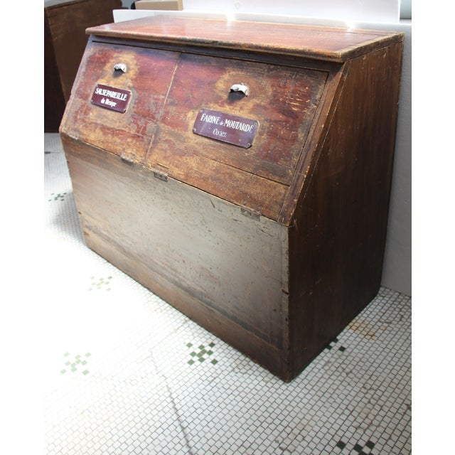 19th-C. French Flour Bin - Image 4 of 8