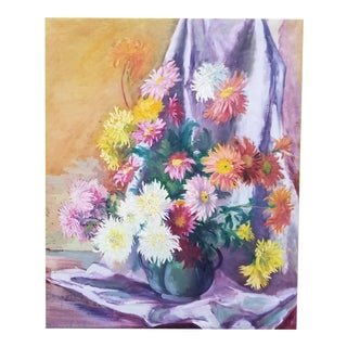 1930's Floral Still Life Painting For Sale