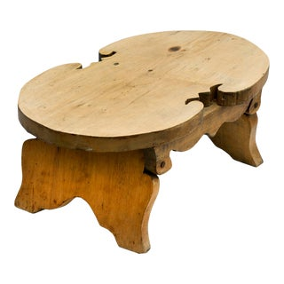 Primitive Pine Footstool For Sale