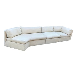 Mid Century Milo Baughman for Thayer Sectional - 3 Pieces For Sale