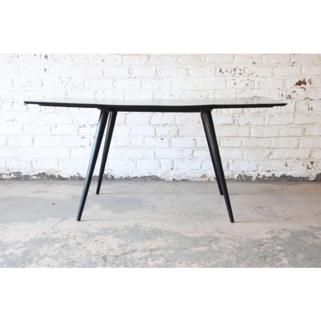 1950s Paul McCobb Planner Group Ebonized Dinette Table For Sale - Image 5 of 10