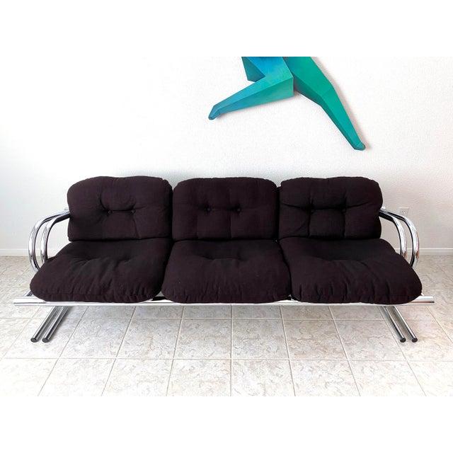 Mid Century Modern Jerry Johnson Chrome Sofa For Sale - Image 10 of 12