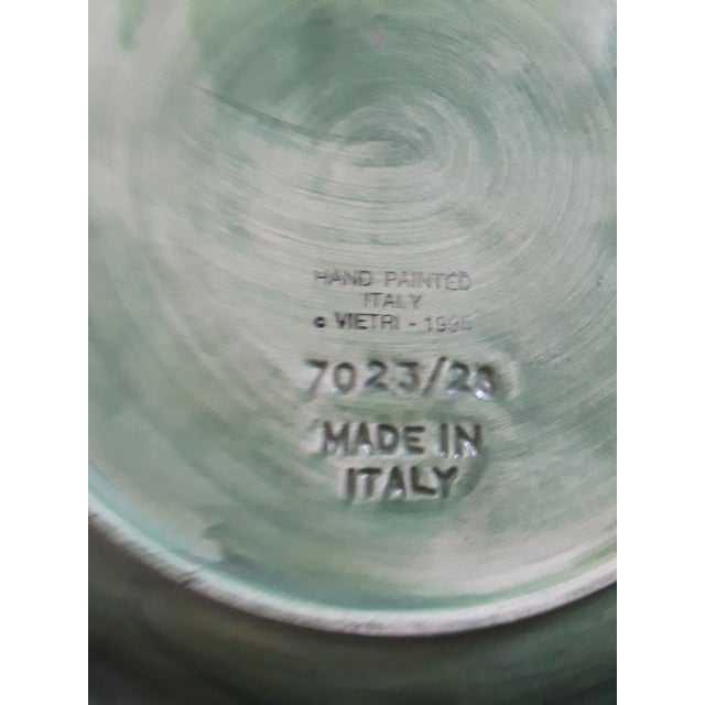 1990s Italian Vintage Vietri Green Cabbage Plate For Sale - Image 5 of 6