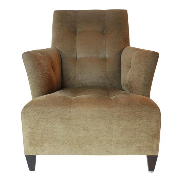 Modern John Hutton for Donghia Eaton Tan Club Chair For Sale