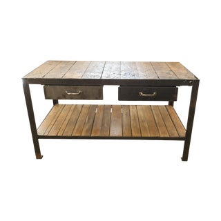 Industrial Workman's Table For Sale