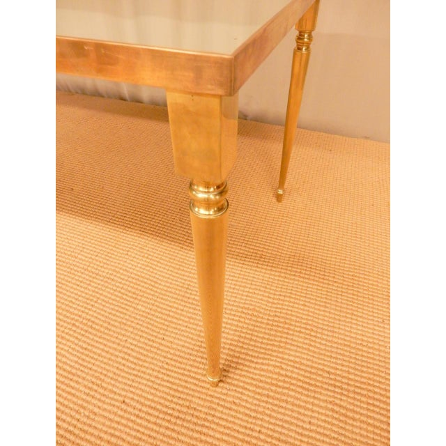 1970s Classical Mirrored Top Mid-Century Modern Coffee Table For Sale - Image 5 of 6