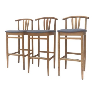Set of Modern Wishbone Style Barstools- 3 For Sale