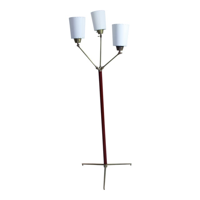 Jacques Adnet Multi Shade Floor Lamp For Sale