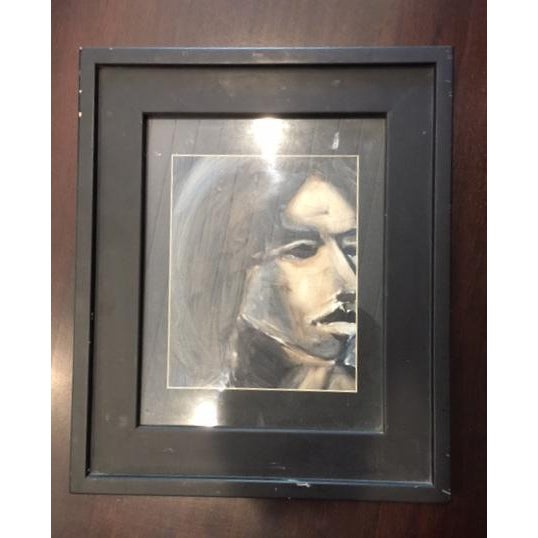 Abstract Portrait of Woman Framed Painting - Image 2 of 5