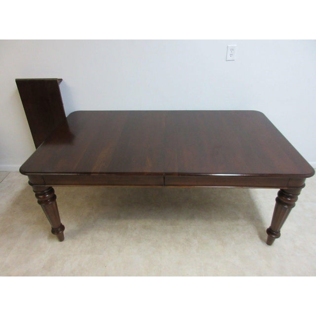 1990s Pennsylvania House Cortland Manor Cherry Banquet Dining Conference Table For Sale - Image 5 of 11