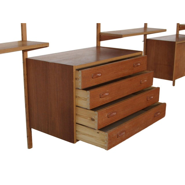 Mid Century Danish 7 Bay Teak Shelving Unit by Ps System For Sale In Atlanta - Image 6 of 13