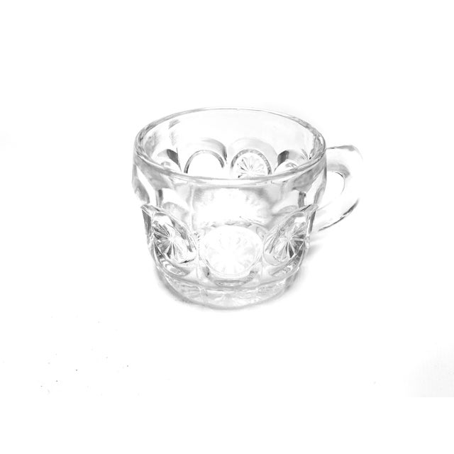 Vintage mid century 16 piece set of Tiffin-Franciscan pressed glass tea cups / punch cups. These beautiful mid century...