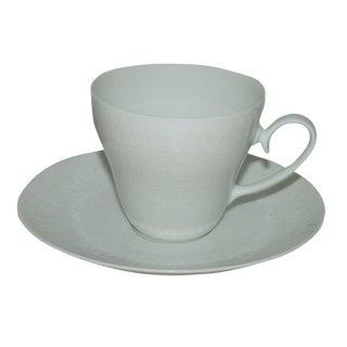 Vintage Minimalist Rosenthal Romance Teacup & Saucer Set - 2 Pieces For Sale