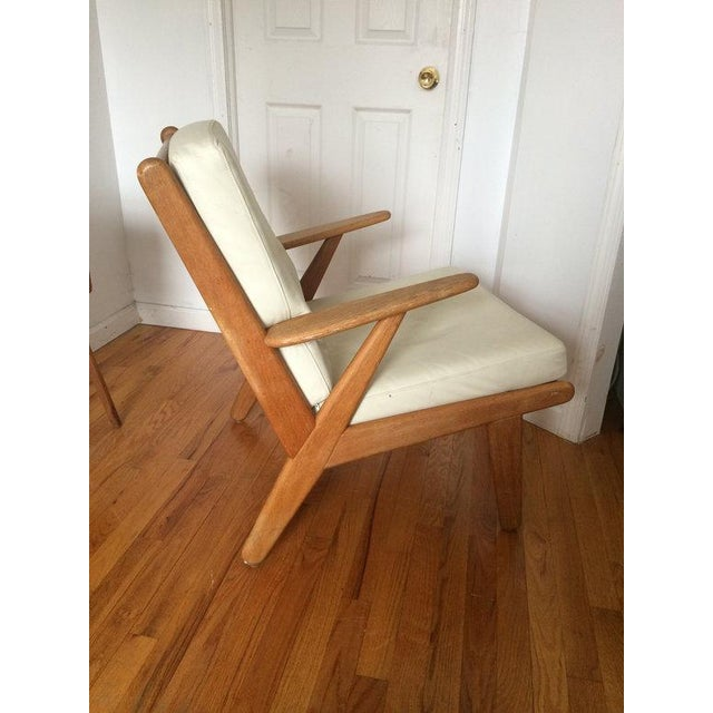 J 53 Lounge Chair in Solid Oak and Leather - Image 2 of 3