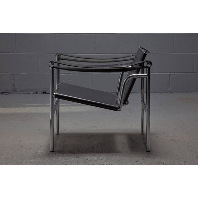 Designed in 1928 for Cassina, Le Corbusier, Pierre Jeanneret and Charlotte Perriand the sleek LC1 Chair is constructed...