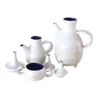 Les Argonautes French Mid-Century Ceramic Serving Set - 3 Pieces For Sale
