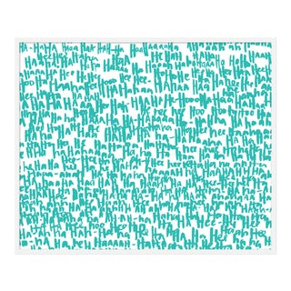 "Large ""haha Turquoise One"" Print by Kate Roebuck, 45"" X 34"""
