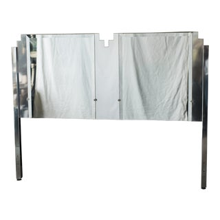 Art Deco Style Mirrored Queen Size Headboard by Ob Solie for Ello For Sale