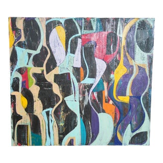 Jason Fascination Abstract Expressionist Acrylic Painting on Canvas For Sale