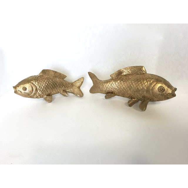 Vintage Gilt Koi Fish - Pair - Image 4 of 5