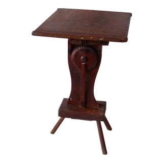 Early 20th Century Primitive Rustic Style Pine Side Table For Sale