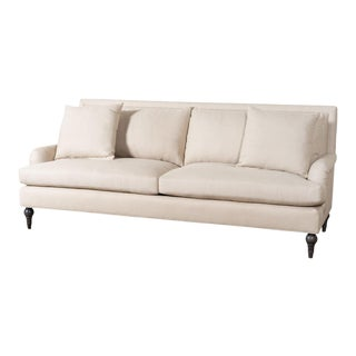EJ Victor Upholstered Linen Cleary Sofa For Sale