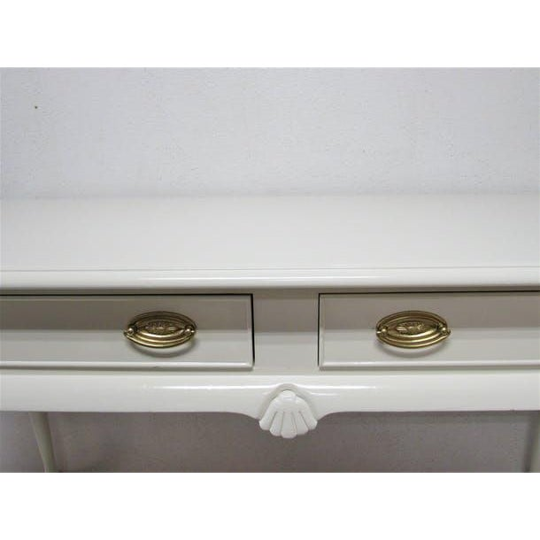 Drexel Drexel Lacquered 2-Drawer Desk For Sale - Image 4 of 7