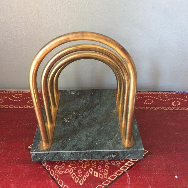 Brass & Marble Desk Organizer - Image 6 of 6