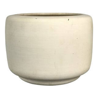 "Mid Century Modern Architectural Pottery ""Tire"" Planter in Bisque by John Follis & Rex Goode 1960's For Sale"