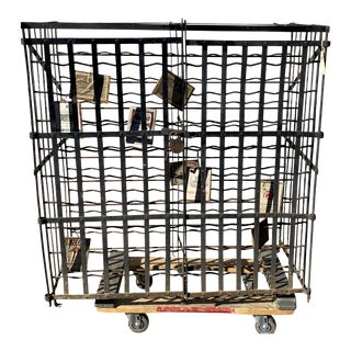 Antique Late 19th Century Iron 150+ Bottle Wine Cage For Sale