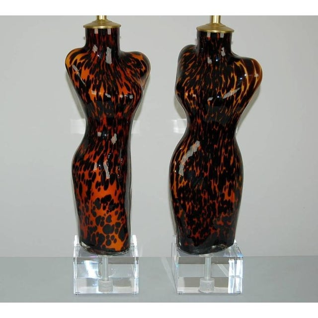 Venus Murano Glass Table Lamps Leopard Spots For Sale - Image 10 of 10