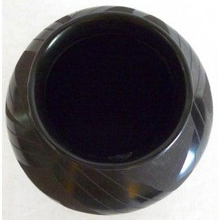 Late 20th Century Vintage Tomasa Mora Mata Ortiz Black Pottery Jar Preview