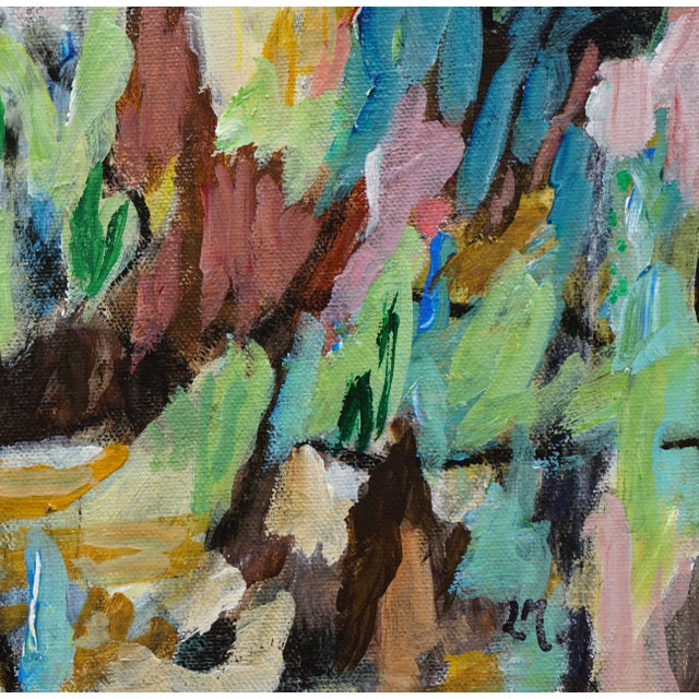 """2010s Laurie MacMillan """"Biodiversity"""" Abstract Painting For Sale - Image 5 of 6"""