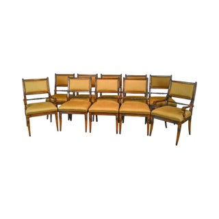 Regency Style Custom Quality Set of 10 Dining Chairs