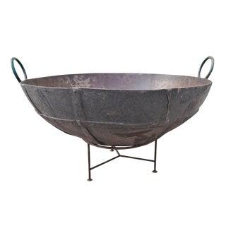 "Large Iron Kadai Fire Bowl 50"" For Sale"
