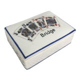 Image of Vintage Ceramic Playing Card Box For Sale