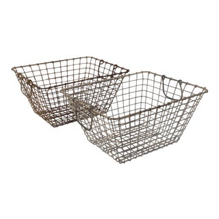 20th Century French Oyster Baskets - a Pair For Sale