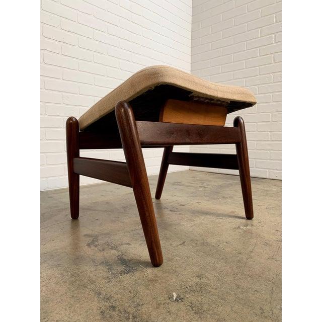 i.b. Kofod-Larsen High Back Lounge Chair Model Pd30 With Ottoman, Circa 1960 For Sale - Image 10 of 13