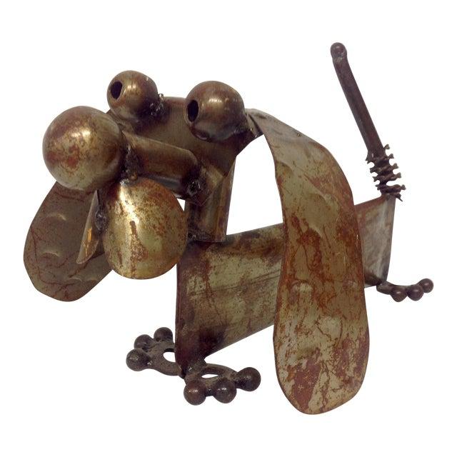 Industrial Steampunk Weiner Dog Sculpture For Sale